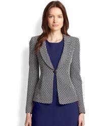 Armani Oval Jacquard Jersey Jacket - Lyst