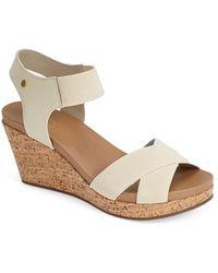 G.H.BASS - 'nettie' Cork Wedge Sandal - Lyst