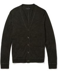 Rag & Bone Emerson Fine-knit Wool Cardigan - Lyst