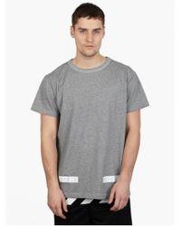 Off White C/o Virgil Abloh Men'S Grey Cotton Logo T-Shirt - Lyst