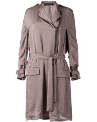 Haider Ackermann Draped Belted Trench Coat - Lyst