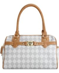 Marc Fisher - Check Mate Large Satchel - Lyst