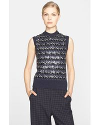Marc Jacobs Sleeveless Sequin Jacquard Knit Sweater blue - Lyst