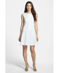 Hugo Boss 'Hiluna' Sleeveless Embroidered Dress - Lyst