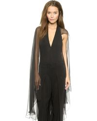 Donna Karan - Winged Jersey Bodysuit - Black - Lyst