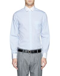 Band Of Outsiders Contrast Collar and Cuff Shirt - Lyst