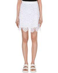 Sandro Scalloped Lace Skirt - For Women - Lyst