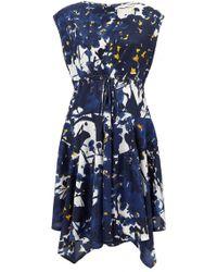 Marni Floral Printed Silk Dress - Lyst