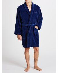 Emporio Armani Soft Cotton Robe - Blue