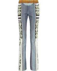 Mary Katrantzou Colma Printed Midrise Straight-leg Jeans - Blue
