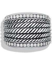 David Yurman Wheaton Band Ring with Diamonds - Lyst