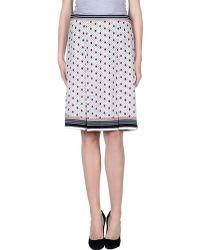Celine Knee Length Skirt white - Lyst