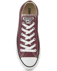 Converse Ox Leather Plimsolls Brownwhite - Lyst