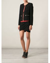 Emilio Pucci Zipped Stitch Detail Jacket - Lyst