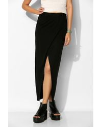 Sparkle & Fade - Knit Crossover Maxi Skirt - Lyst