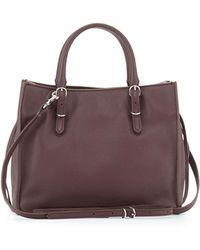 Balenciaga Papier A4 Mini Leather Tote Bag purple - Lyst