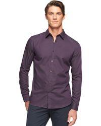 Calvin Klein Slim Fit Dobby Sport Shirt - Lyst