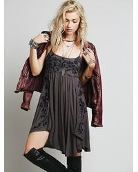 Free People Embroidered Babydoll Slip - Lyst