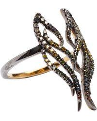 Socheec - Diamond Wing Ring - Lyst