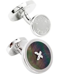 Thomas Pink - Mother Of Pearl Silver Buttons Cufflinks - Lyst