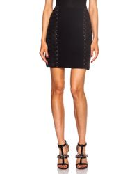 Mugler Classic Cady Viscose-blend Skirt with Side Panels - Lyst