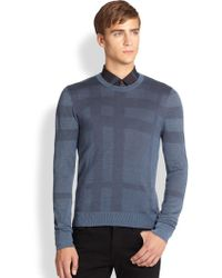Burberry London Elmhurst Check Sweater - Lyst