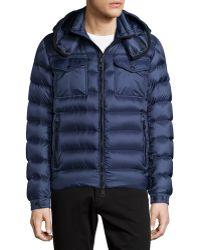 Moncler Edward Hooded Puffer Jacket blue - Lyst