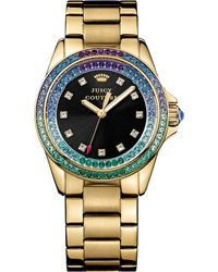 Juicy Couture Womens Stella Gold-tone Stainless Steel Bracelet Watch 36mm - Lyst