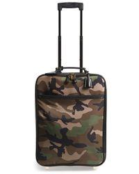 Valentino Rockstud Camo Print Roller Suitcase - Green