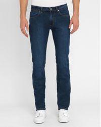 M.studio Géraud Stone-Wash Slim-fit Jeans blue - Lyst