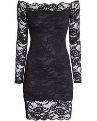 H&M Lace Off-the-shoulder Dress - Lyst