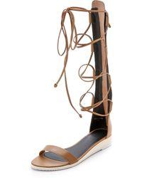 Tibi Beacher Gladiator Sandals - Sand - Lyst