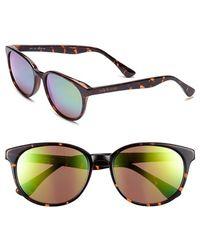 Isaac Mizrahi New York Retro Sunglasses - Dark Tortoise/ Mirror - Brown