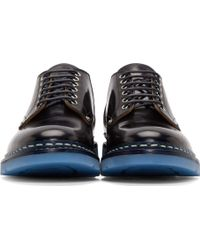 OAMC - Black And Navy Officer Heschung Edition Derby Shoes - Lyst