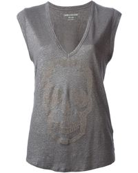 Zadig & Voltaire Brooklyn V-neck Vest - Lyst