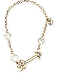 Lanvin Arrow Short Pendant Necklace - Lyst
