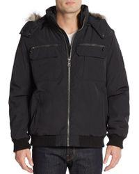 Calvin Klein | Faux Fur-trimmed Cotton-blend Coat | Lyst