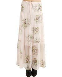 Twelfth Street Cynthia Vincent 12th Street By Cynthia Vincent Tiered Floral Maxi Skirtdress Pink - Multicolour