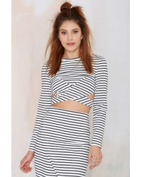 Nasty Gal The Fifth Starstruck Striped Top - Lyst