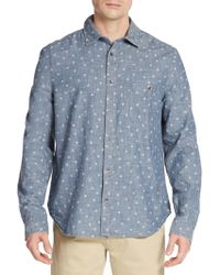 Alternative Apparel - Ken Printed Cotton Chambray Sport Shirt - Lyst
