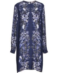 Matthew Williamson Blue Short Dress - Lyst