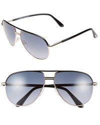 Tom Ford Women'S 'Cole' 61Mm Sunglasses - Shiny Rose Gold/ Black - Lyst