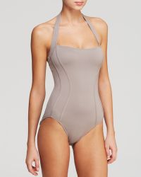 DKNY Curve Mirage Contoured Blocked Maillot One Piece Swimsuit - Lyst