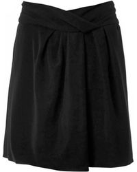 Carven Twist-Front Crepe Skirt - Lyst