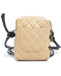 Chanel Pre-owned Lambskin Cambon Ligne Crossbody Bag - Lyst