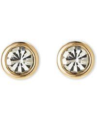 Tahari - Gold-Tone Round Earrings - Lyst