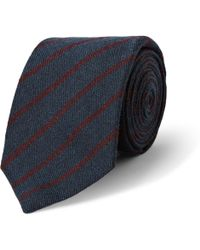 Turnbull & Asser Striped Cashmere Wool and Silkblend Tie - Lyst