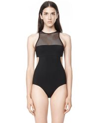 Alexander Wang - Mesh Combo One Piece Swimsuit - Lyst