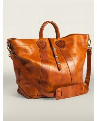 RRL Distressed Leather Tote - Lyst