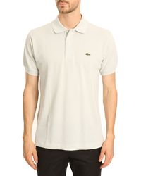 Lacoste Pearl Grey Classic Polo - Lyst